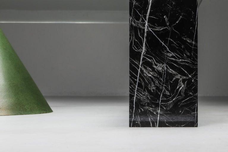 Vignelli Marble and Copper 'Kono' Coffee Table 3