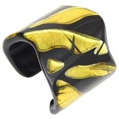 Vigneri Signed Plexiglass Sculptural Cuff Bracelet Italian