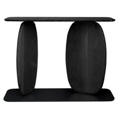 VII, Burned White Oak and Black Marble Sideboard from Noviembre by Joel Escalona