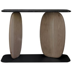 VII, White Oak and Black Marble Sideboard from Noviembre by Joel Escalona