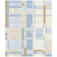 viii Contemporary Avantgarde Hand-Knotted Soft Large Rug by Angelina Askeri