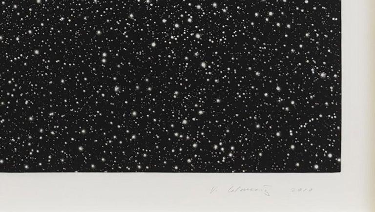 Starfield - Black Landscape Print by Vija Celmins