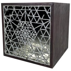 One of a Kind Viking geometry Side Table