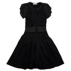 VIKTOR & ROLF Short-sleeve Dress in Black Wool Size 42IT