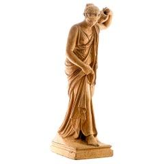 Viktor Brausewetter, Terracotta Sculpture, Wagram Austria, 2nd Half 19th Century