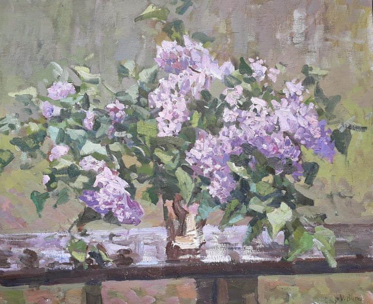 Viktor Butko Figurative Painting - Lilacs on a Table
