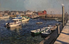 Morning at T-Wharf, Rockport