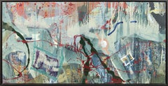 Rain Dance No 1 - large, muted, gestural abstract landscape, acrylic on canvas