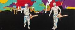 Safe Harbour - large, graphic, figurative, pop-art, cultural, acrylic on canvas
