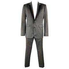 VIKTOR & ROLF Size 42 Dark Gray Wool Regular Peak Lapel Suit