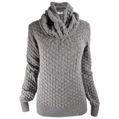 Viktor & Rolf Womens Wool & Angora Textured Knit Cowl Neck Sweater NWT