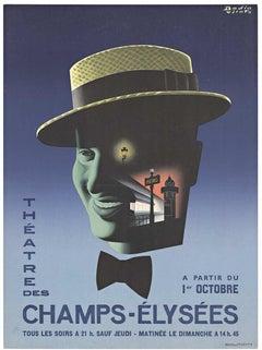 Original Theatre des Champs - Elysees vintage French poster