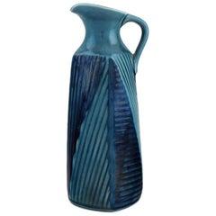 Vilhelm Bjerke Petersen for Rörstrand, Fasett Jug in Glazed Ceramics