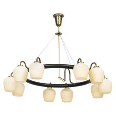 Vilhelm Lauritzen Ceiling Lamp Produced by Fog & M?rup in Denmark