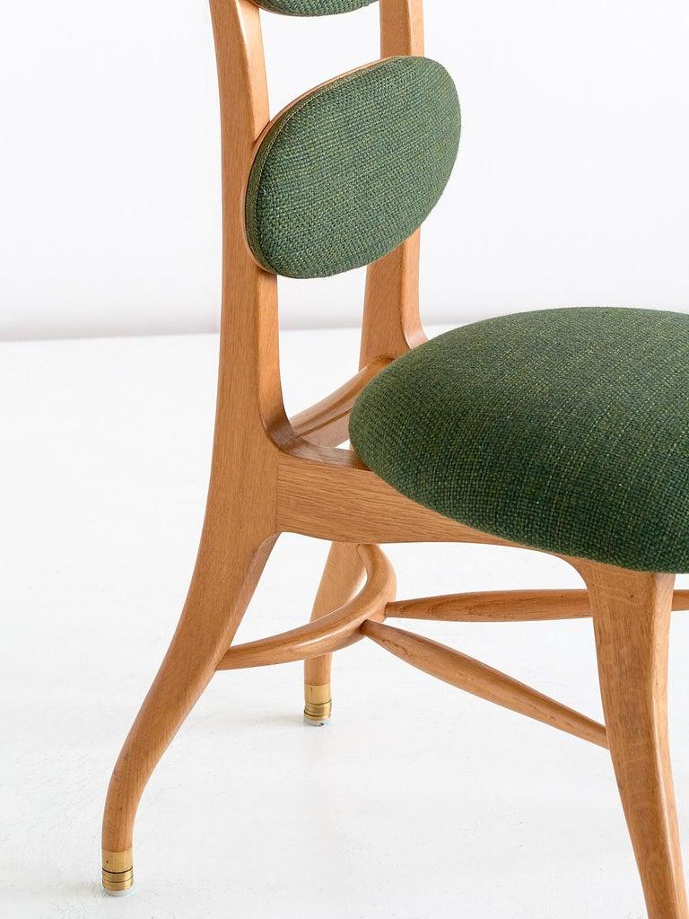Vilhelm Lauritzen Musician Chair in Oak, Designed for Radiohuset, Denmark, 1950s In Good Condition For Sale In The Hague, NL