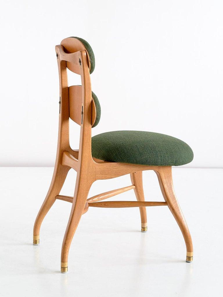 Mid-20th Century Vilhelm Lauritzen Musician Chair in Oak, Designed for Radiohuset, Denmark, 1950s For Sale