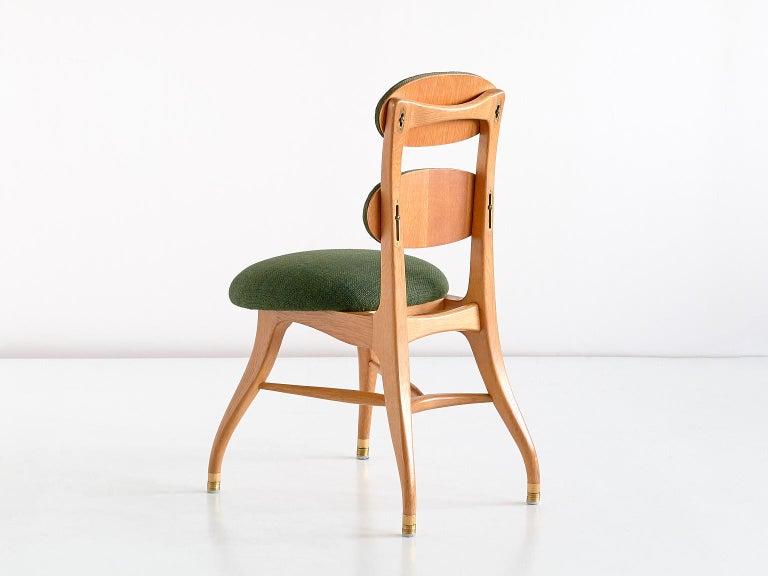 Brass Vilhelm Lauritzen Musician Chair in Oak, Designed for Radiohuset, Denmark, 1950s For Sale