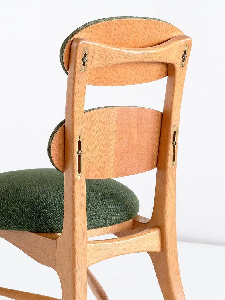 Vilhelm Lauritzen Musician Chair in Oak, Designed for Radiohuset, Denmark, 1950s For Sale 1