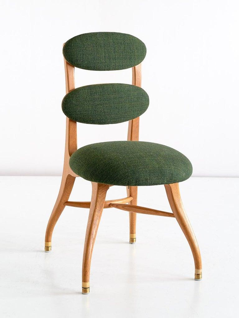 Vilhelm Lauritzen Musician Chair in Oak, Designed for Radiohuset, Denmark, 1950s For Sale 2