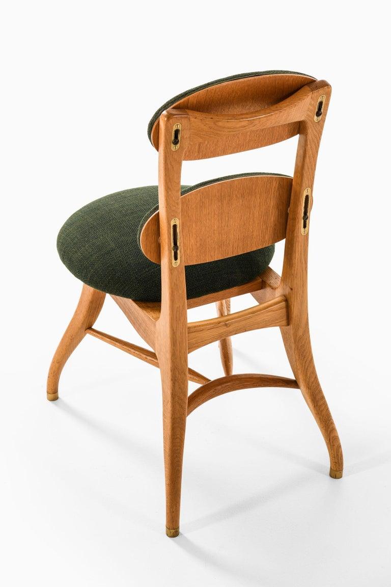 Brass Vilhelm Lauritzen Musician Chair Produced in Denmark