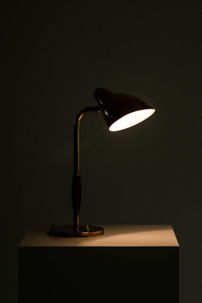 Mid-20th Century Vilhelm Lauritzen Table Lamp Produced by Louis Poulsen in Denmark For Sale