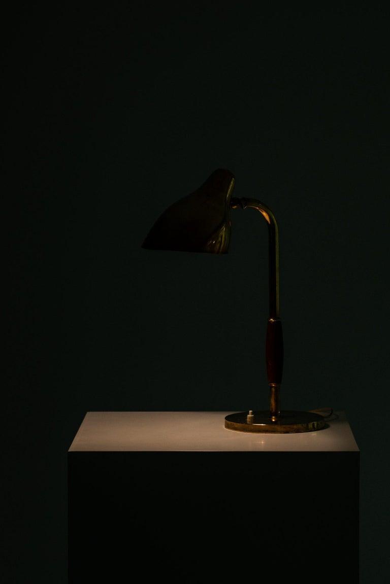 Brass Vilhelm Lauritzen Table Lamp Produced by Louis Poulsen in Denmark For Sale