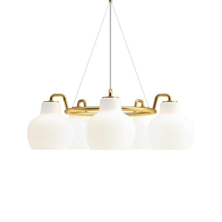 Vilhelm Lauritzen VL-1 Brass and Glass Wall Lamp for Louis Poulsen For Sale 8