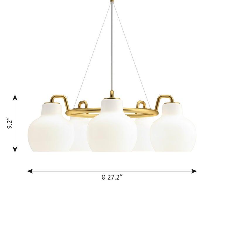Vilhelm Lauritzen VL-1 Brass and Glass Wall Lamp for Louis Poulsen For Sale 9