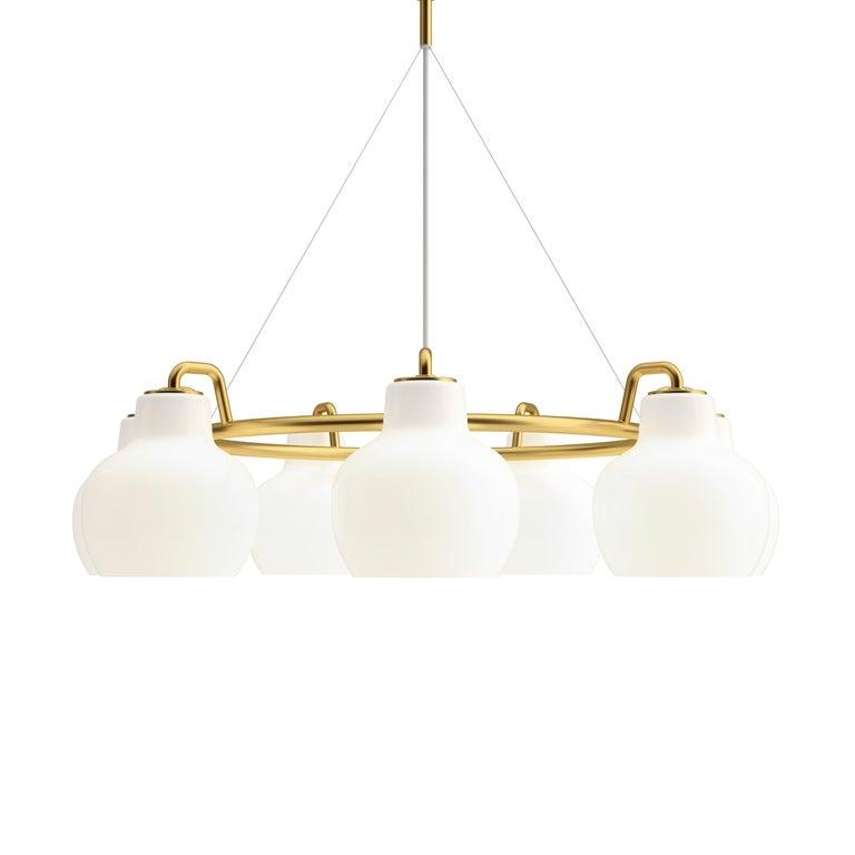Vilhelm Lauritzen VL-1 Brass and Glass Wall Lamp for Louis Poulsen For Sale 10