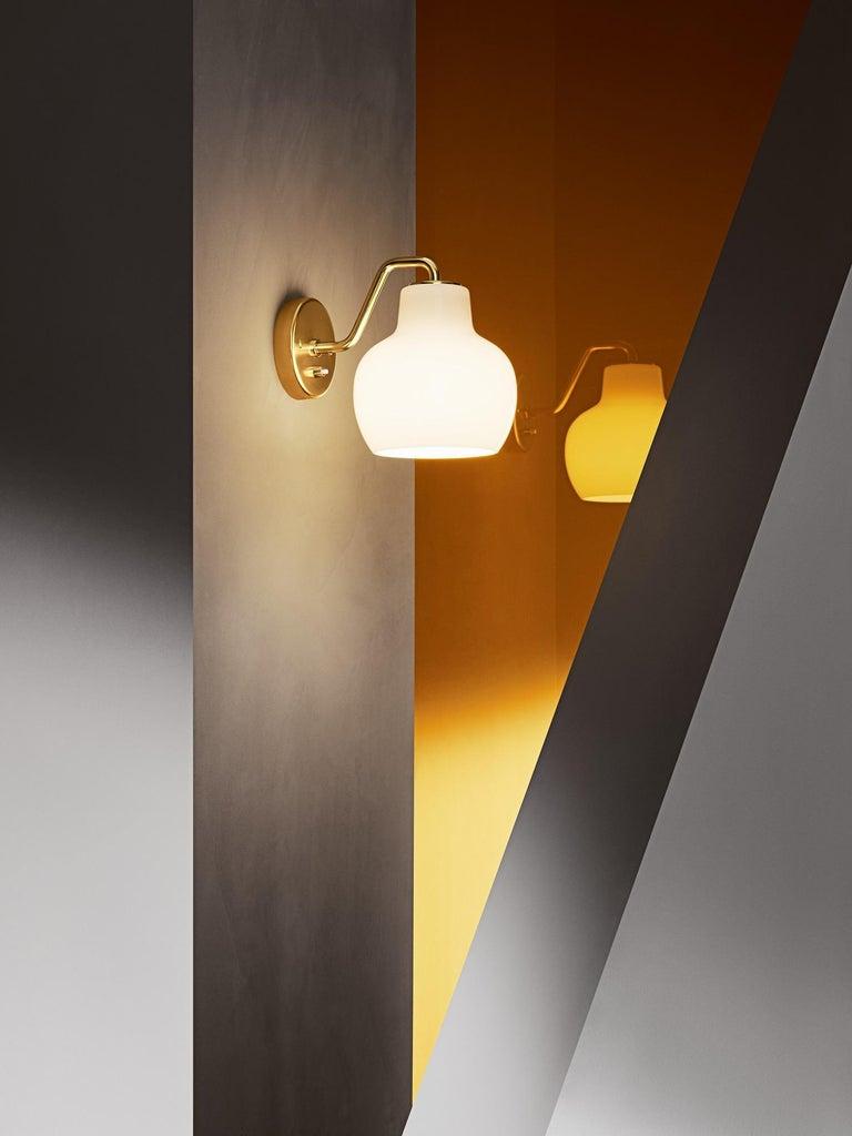 Danish Vilhelm Lauritzen VL-1 Brass and Glass Wall Lamp for Louis Poulsen For Sale