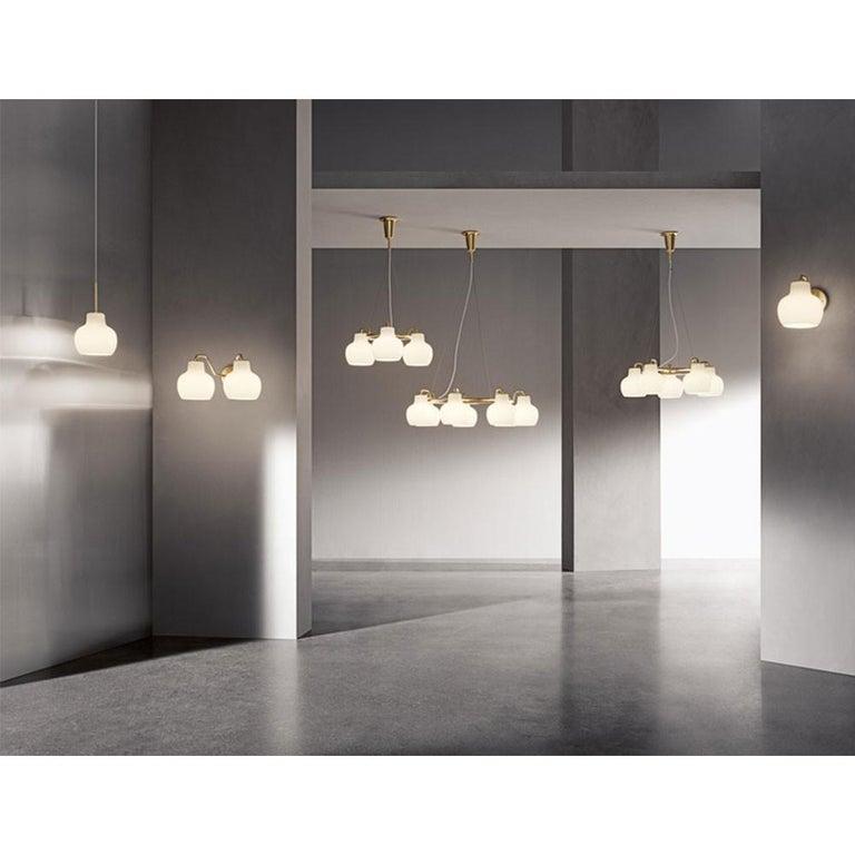 Opaline Glass Vilhelm Lauritzen VL-1 Brass and Glass Wall Lamp for Louis Poulsen For Sale