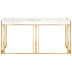 Villa Console Table in Gold Finish