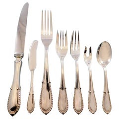 Villa d'Este by Buccellati Italy Sterling Silver Flatware 12 Set 94 Pcs Dinner
