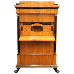 Villa Garnelo Internacional Secretary Chest with Clawed Feet and Column Accents