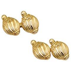 Villa Tasca 9 Karat Gold Cufflinks