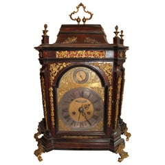 Villacroce Clock 18th Century with Rosewood Veneer and Ebonized Wood