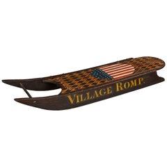 """Village Romp"" Folk Art Sled"