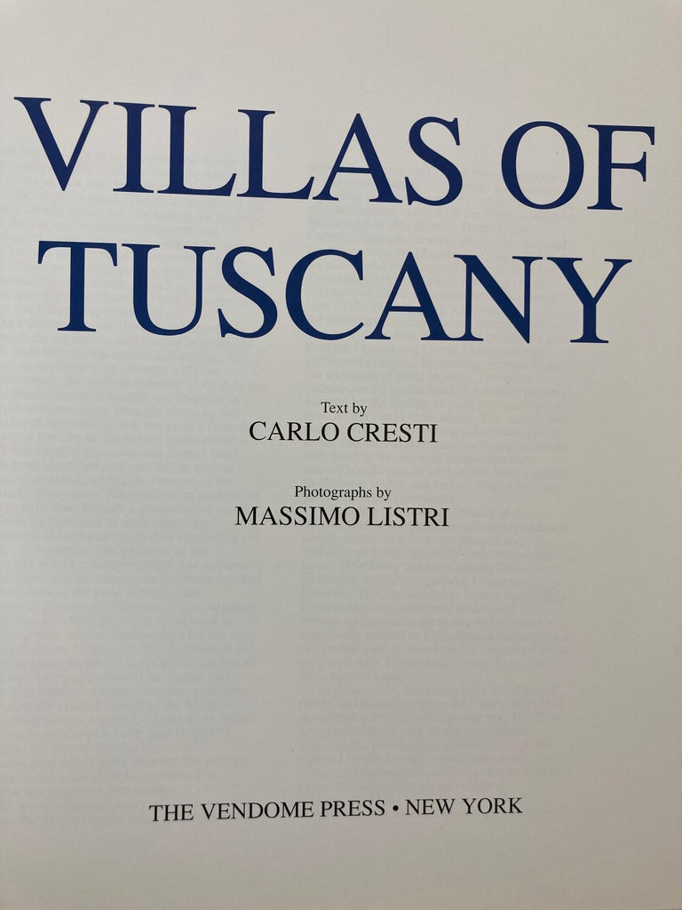 Villas of Tuscany Hardcover Hardcover Book 1