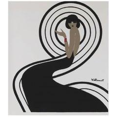 Villemot Spirale Parly 2 Original Vintage Poster