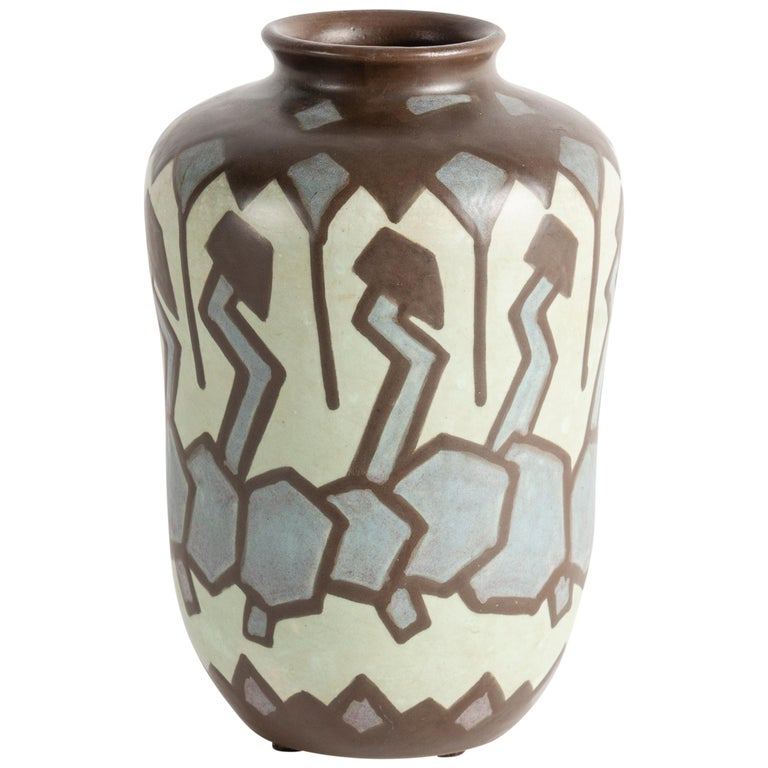 Villeroy And Boch Art Deco Stoneware Vase Luxembourg