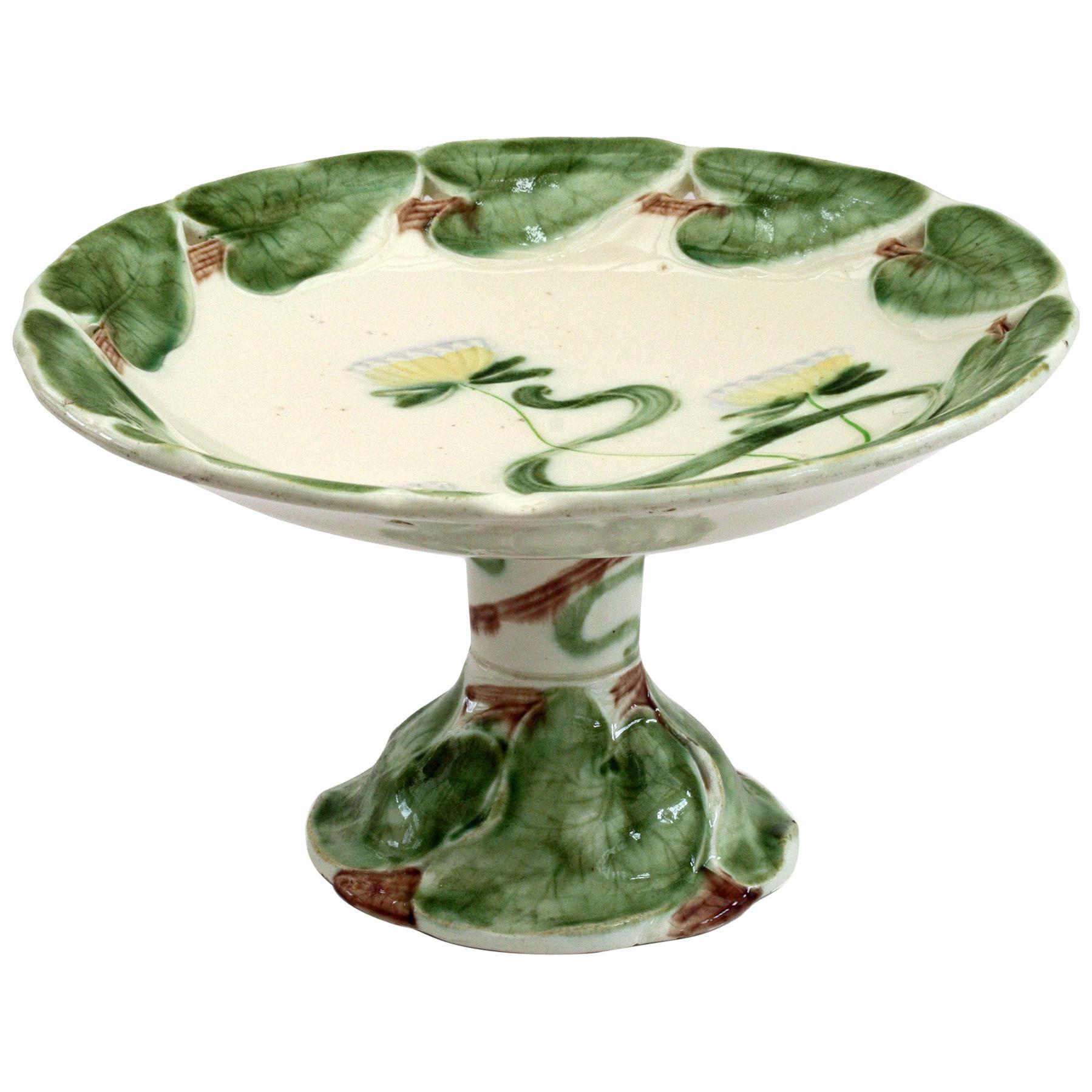 Villeroy & Boch Art Nouveau Tubelined Floral Majolica Pottery Tazza