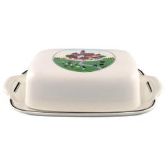 Villeroy & Boch Naif Butter Container with Dish in Porcelain