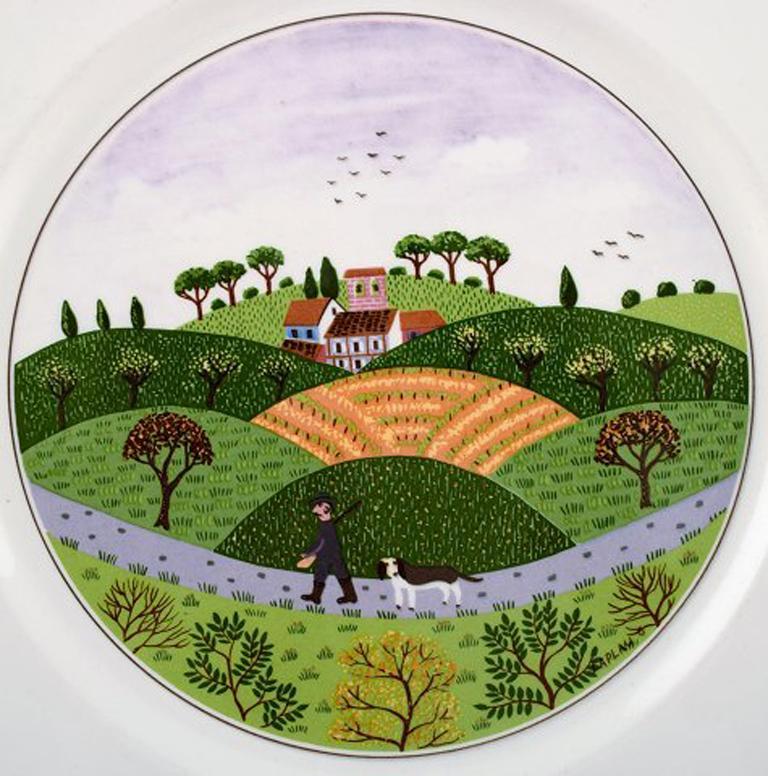 Villeroy & Boch Naif Dinner Service in Porcelain, a Set of 6 Dinner Plates In Good Condition For Sale In Copenhagen, Denmark