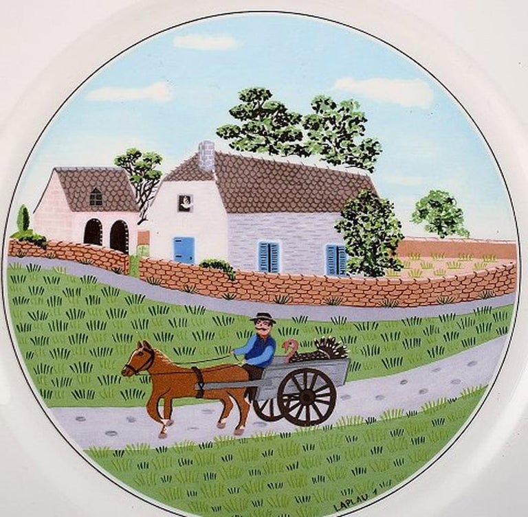 Villeroy & Boch Naif Dinner Service in Porcelain, a Set of 6 Dinner Plates For Sale 1