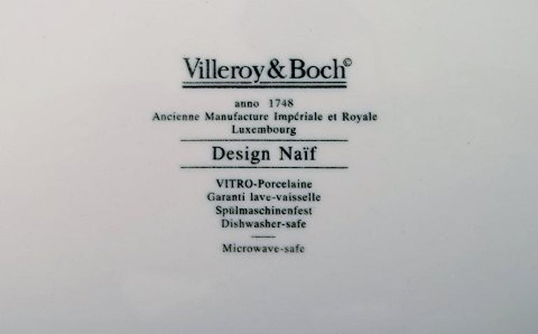 Villeroy & Boch Naif Dinner Service in Porcelain, a Set of 6 Dinner Plates For Sale 3