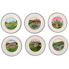 Villeroy & Boch Naif Dinner Service in Porcelain, a Set of 6 Plates