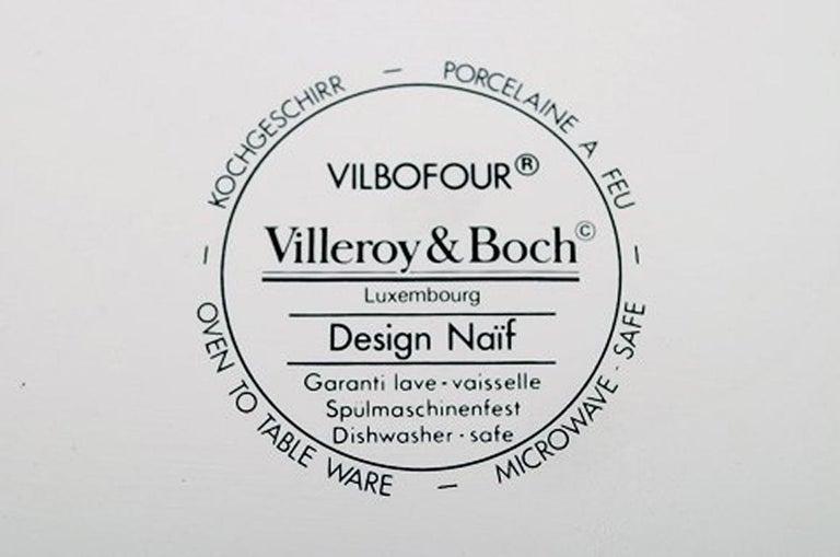 Villeroy & Boch Naif Dinner Service in Porcelain, Oval Lidded Tureen For Sale 1