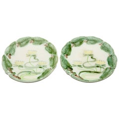 Villeroy & Boch Schramberg 2 Ceramic Plates, Water Lelie 1883s-1900s