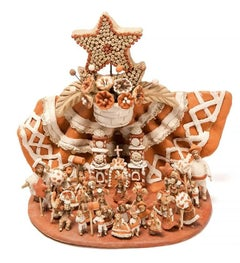 Las Fiestas del Cerro / Ceramics Mexican Folk Art Clay