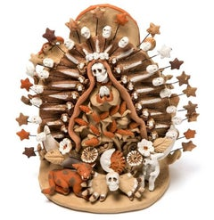 Tonatzin y los Cincos Soles / Ceramics Mexican Folk Art Clay